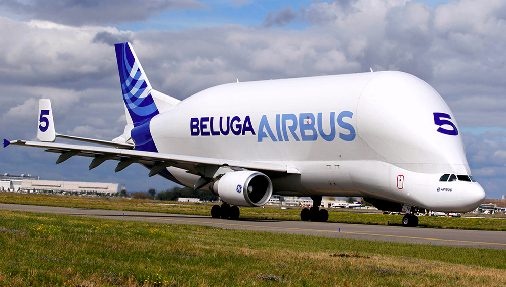A Beluga transport plane belonging to Airbus is pictured in Colomiers near Toulouse, France, September 26, 2017. REUTERS/Regis Duvignau