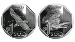 Monedas de un sol alusivas al cóndor andino y el cocodrilo de Tumbes. Foto: Banco Central De Reserva del Perú | Flickr.