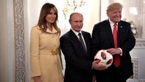 Melania y Donald Trump junto a Vladimir Putin Foto: Kremlin.ru
