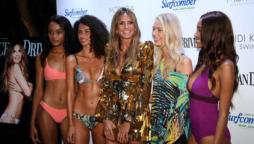 Festivities were kicked into high gear at Miami Swim Week as Ocean Drive Magazine Celebrated its 25th anniversary Swimsuit double-issue with supermodel, TV producer and entrepreneur Heidi Klum and Heidi Klum Swim at the Kimpton Surfcomber Hotel in Miami Beach. July 13, 2018. Staff Photo by Jim Rassol.