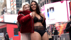 Models walked through Times Square without clothes on to spread body positivity. Photo: Pinterest