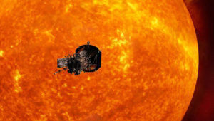 Artist's impression of the Solar Probe Plus spacecraft approaching the sun. JOHNS HOPKINS UNIVERSITY APPLIED PHYSICS LABORATORY