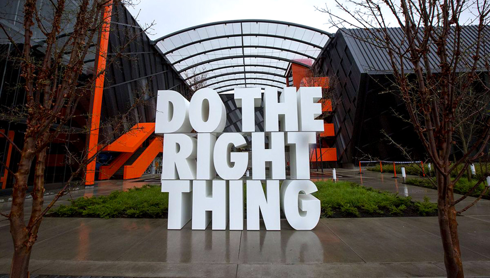A giant sculpture at the Nike headquarters in Beaverton, Oregon. Natalie Behring/Getty Images