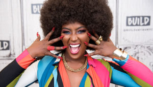 """NEW YORK, NY - FEBRUARY 07: Amara La Negra visits Build Series to discuss """"Love and Hip Hop Miami"""" at Build Studio on February 7, 2018 in New York City. (Photo by Mike Pont/Getty Images)"""