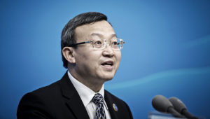China's Vice Minister of Commerce Wang Shouwen Speaks At News Conference. FOTO: BLOOMBERG