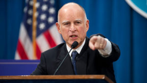 Doing a press conference at the California State Capitol in Sacramento on Thursday, January 10, 2013. Gov. Jerry Brown unveiled his proposed state budget for the year that begins July 1. RANDALL BENTON/SACRAMENTO BEE/MCT VIA GETTY IMAGES