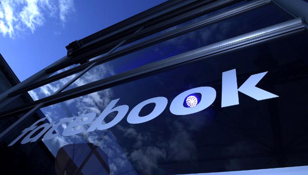 Gebäude mit Facebook-Logo. Photo: AFP
