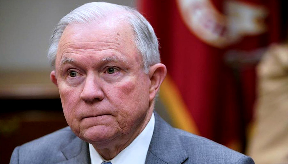 """Atty. Gen. Jeff Sessions said he wouldn't be """"improperly influenced by political considerations."""" (Mandel Ngan / AFP-Getty Images)"""