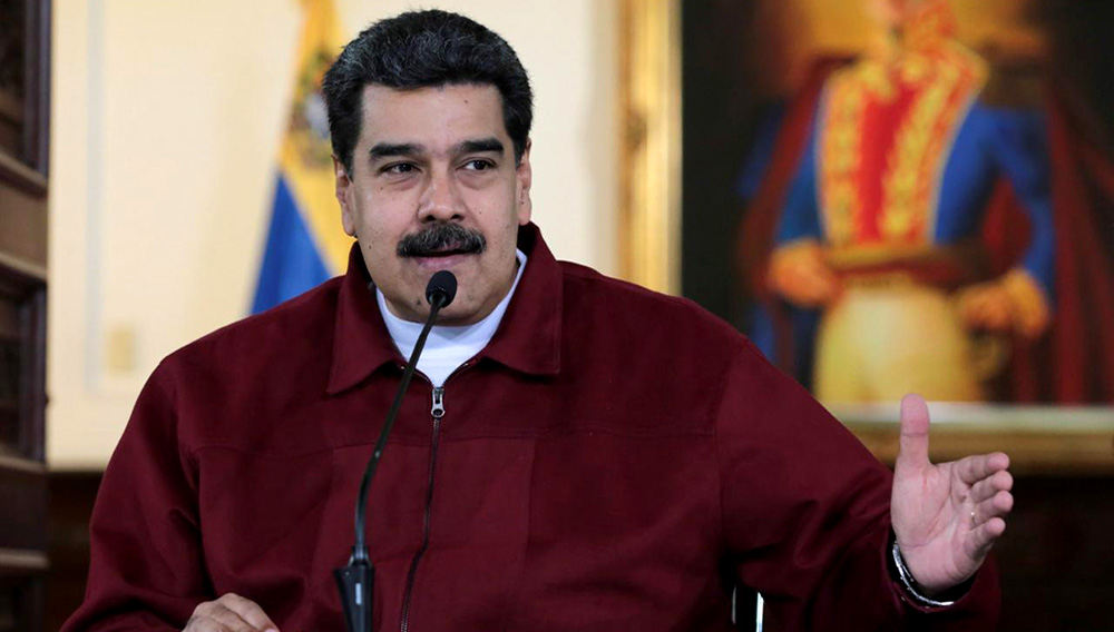 Venezuela's President Nicolas Maduro speaks during a meeting with ministers at Miraflores Palace in Caracas, Venezuela September 24, 2018. Miraflores Palace/Handout via REUTERS