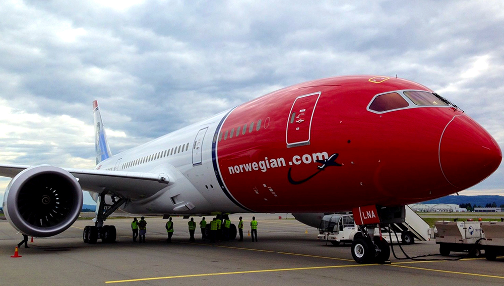 This undated file photo shows a Norwegian Air 787 Boeing Dreamliner. (Photo: Norwegian Air)