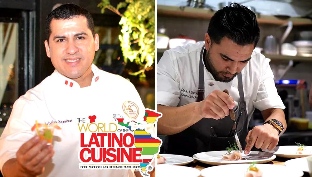 Chefs peruanos Christian Araníbar y Diego Sánchez estarán en la feria World of Latino Cuisine: El Mundo de la Cocina Latina.