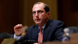 Alex Azar II testifies before the Senate Finance Committee on his nomination to be Health and Human Services secretary in Washington, U.S., January 9, 2018. REUTERS/Joshua Roberts