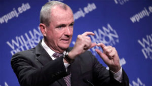Democratic nominee Phil Murphy talks to reporters after participating in a gubernatorial debate against Republican nominee Lt. Gov. Kim Guadagno at William Paterson University, Wednesday, Oct. 18, 2017, in Wayne, N.J. (AP Photo/Julio Cortez) The Associated Press