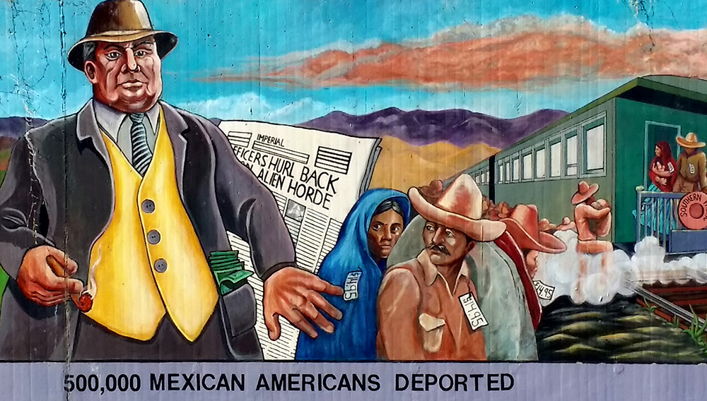 Mexicans deported. The Great Wall in Los Angeles. Photo: stupidvacations.com