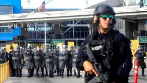 US halts all site visitors at key San Diego-Tijuana border crossing amid migrant disaster. Mario Tama | Getty Photographs