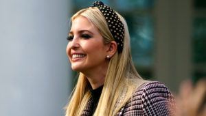 Ivanka Trump, the daughter of President Donald Trump, arrives for a ceremony to pardon the National Thanksgiving Turkey in the Rose Garden of the White House in Washington, Tuesday, Nov. 20, 2018. (AP Photo/Carolyn Kaster)