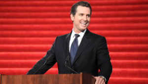 San Francisco Mayor Gavin Newsom speaks during the presentation for the 34th annual America's Cup at City Hall in San Francisco, California, January 5, 2011. (Beck Diefenbach/Reuters)