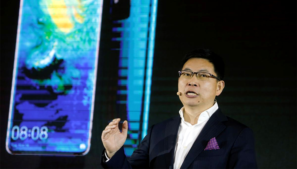 The head of Huawei's consumer business group, Richard Yu, speaks during a presentation in Beijing, China, January 24, 2019.REUTERS/Thomas Peter