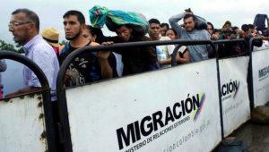People queue to try to cross into Venezuela from Colombia through the Simon Bolivar international bridge in Cucuta Colombia February 13 2018 REUTERS Carlos Eduardo Ramirez