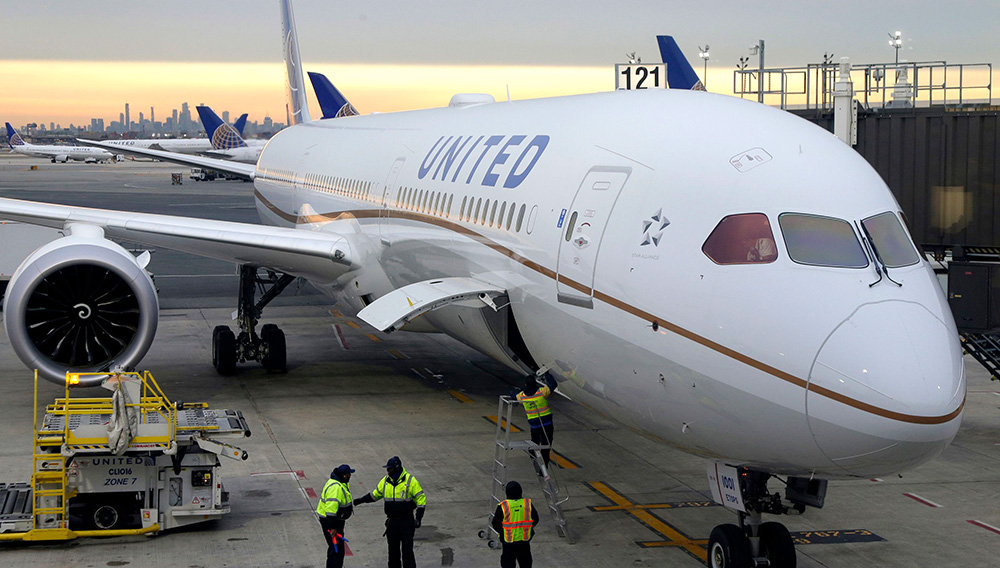 A passenger from an October 2018 United flight from Chicago to London says the airline lied about the reason for the plane's emergency landing in Canada. He says the airline blamed it on a bird strike when it was really because of a windshield damaged by a mechanic. (Photo: Seth Wenig/AP)