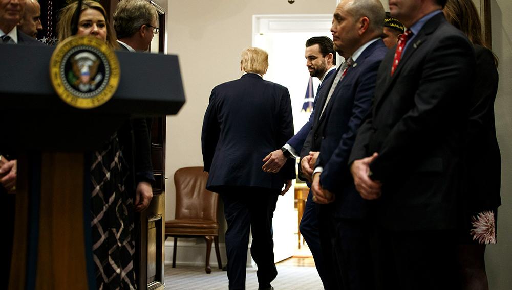 El presidente Donald Trump después de un evento en la Casa Blanca en Washington el 5 de marzo del 2019. (AP Photo/ Evan Vucci)