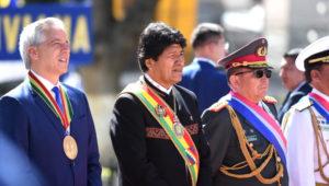 Presidente Evo Morales durante su discurso de conmemoración del Día del Mar. Foto: Presidencia de Bolivia.