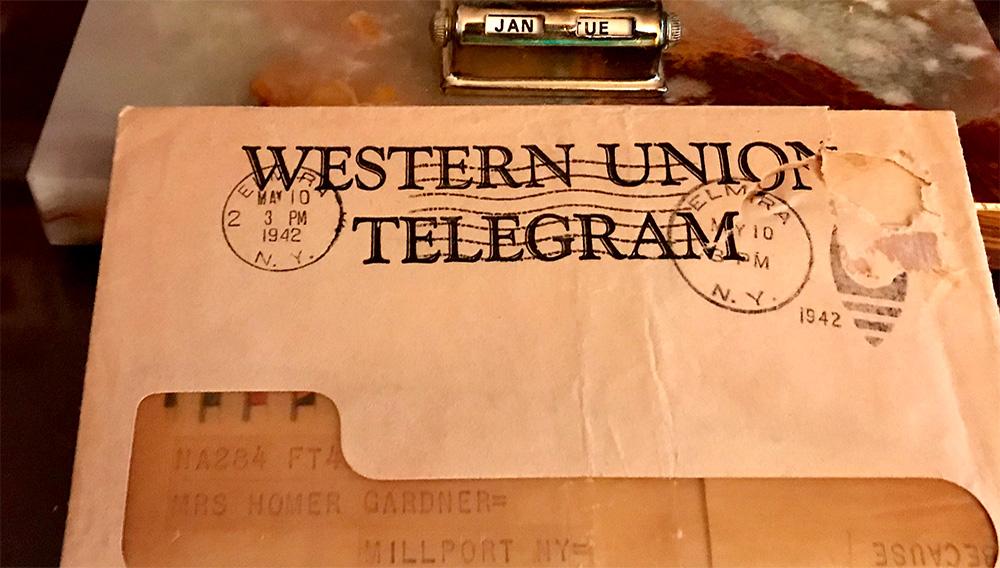 Western Union telegram.   deskgram.net