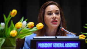 María Fernanda Espinosa Garcés, President of the seventy-third session of the General Assembly. United Nations Photo (Flickr)