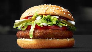 Hamburguesa vegana de McDonalds.