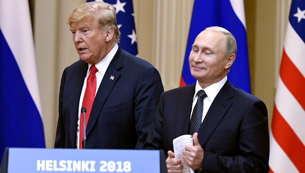 Trump and Putin Met in Helsinki's Hall of Mirrors. Photo: Jussi Nukari/Lehtikuva via AP