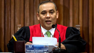 En la imagen, el presidente del Tribunal Supremo venezolano (TSJ), Maikel Moreno. EFE/Archivo