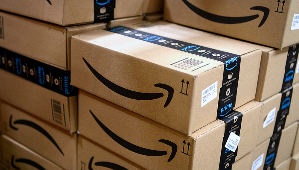 """Items in """"Amazon Prime"""" branded packaging are seen at the Amazon Fulfillment Centre on November 14, 2018 in Hemel Hempstead, England. (Photo: Leon Neal / Getty Images, file)"""