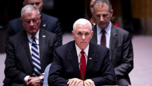 Mike Pence en la ONU / AFP