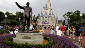 Visitors stroll along Main Street at Walt Disney World in Lake Buena Vista. (John Raoux/Associated Press 2012)