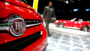 A Fiat car on display at the North American International Auto Show in Detroit, Michigan, U.S., January 16, 2018. REUTERS/Jonathan Ernst/File Photo