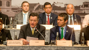 Ministers Responsible for Trade Meeting Press Conference (MAY 18). | Photo: apecchile2019.cl