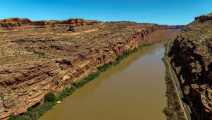 Colorado River drone footage near Moab, Utah.   Photo: Mitch Tobin