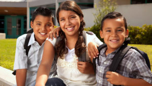 Cute Brothers and Sister Ready for School. | Andy Dean Photography (Photostock)