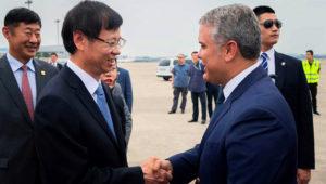 'Queremos que China vea a Colombia como un lugar estratégico para la inversión', afirmó el Presidente Duque. Shanghái, China, 28/07/2019. | Foto: Nicolás Galeano/Presidencia