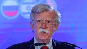 El asesor de seguridad nacional de Estados Unidos, John Bolton, ofrece una rueda de prensa durante la reunión trilateral entre los asesores de seguridad de Rusia, Israel y Estados Unidos, en Jerusalén (Israel), el 25 de junio. EFE/ Atef Safadi/Archivo