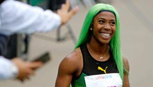 Shelly-Anne Fraser-Pryce, nuevo récord de los Juegos Panamericanos con marca de 22.43 en los 200 metros. | Foto: Lima 2019 Juegos (Flickr)