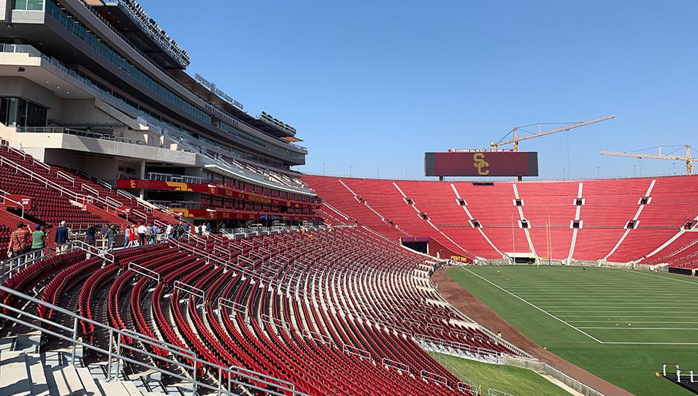 Memorial Coliseum de Los Ángeles, ahora llamado United Airlines Field at the Los Angeles Memorial Coliseum. | Foto: wearesc.com