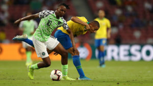 'The destroyer of the Brazilians' –Twitter reacts to Aribo's performance in Nigeria vs Brazil. | Photo: Getty