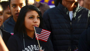 Latino leaders and immigration reform supporters gather on University of Colorado campus to launch a 12-month voter registration campaign to mobilize Colorado's Latino, immigrant and allied voters, Oct. 28, 2015.