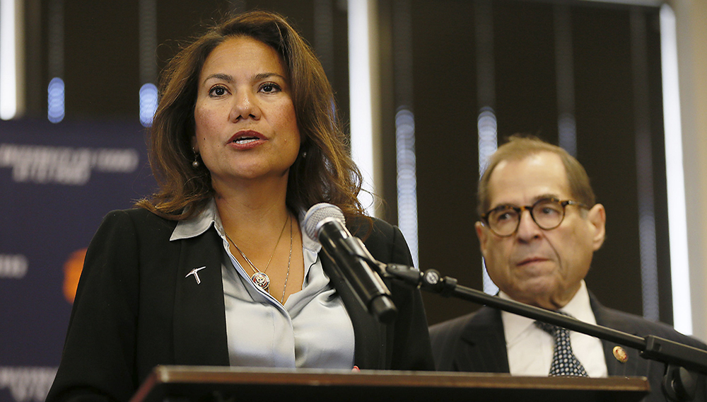 U.S. Rep. Veronica Escobar introduces the representatives who came to El Paso for the House Judiciary Committee Subcommittee on Immigration and Citizenship field hearing Friday, Sept. 6, 2019, at the University of Texas at El Paso. (Photo: BRIANA SANCHEZ/EL PASO TIMES)