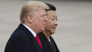 Presidents Donald Trump and Xi Jinping. Getty Images