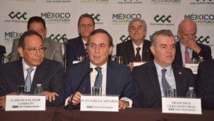 Consejo Coordinador Empresarial encabezado por su presidente, Carlos Salazar Lomelín. Foto: cce.org.mx