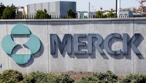 This May 1, 2018, file photo shows Merck corporate headquarters in Kenilworth, N.J. Merck & Co. reports financial earns Tuesday, Oct. 29, 2019. (AP Photo/Seth Wenig, File)