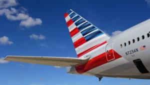 Parte posterior de un avión de la aerolínea estadounidense American Airlines. Foto: American Airlines.