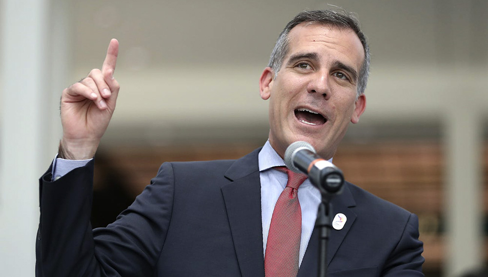 Los Angeles Mayor Eric Garcetti. Christian Petersen/Getty Images